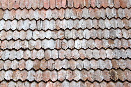 Wooden roof texture photo