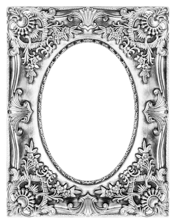 The antique picture frame on the white background photo
