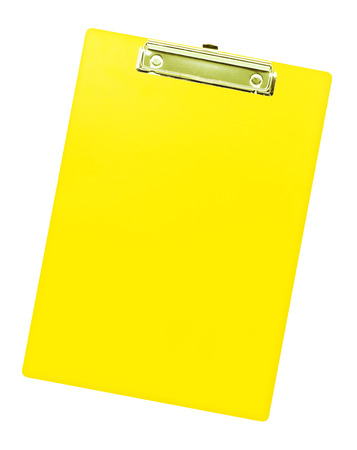 Clipboard isolated on white background. photo