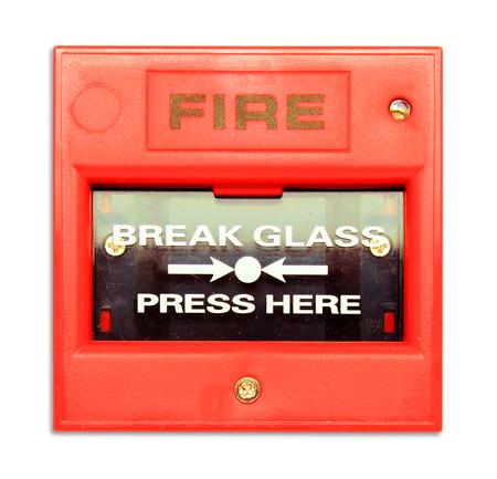 Fire break grass on white background photo