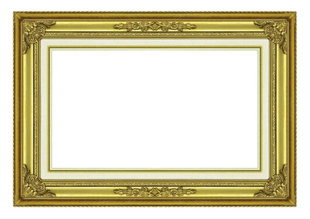 elegant frame:  Picture frame isolated on white background.