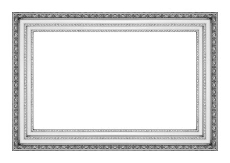 mirror frame: Picture frame antique isolated on white background