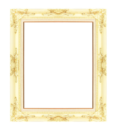 Picture frame isolated on white background photo