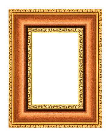 Picture frame ancient isolated on white background. photo