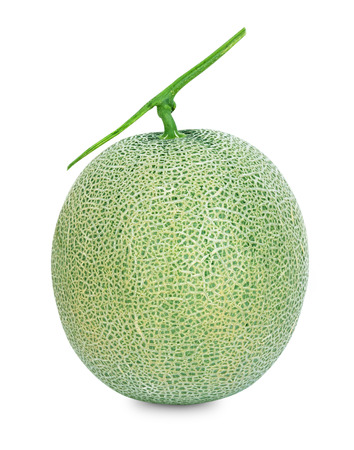 musk: Cantaloupe melons isolated on a white background
