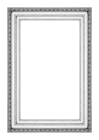 Picture frame antique isolated on white background photo