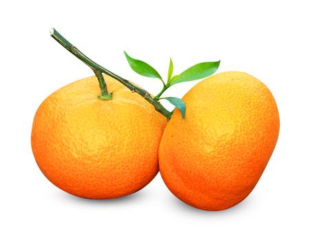 Orange isolated on white background. photo