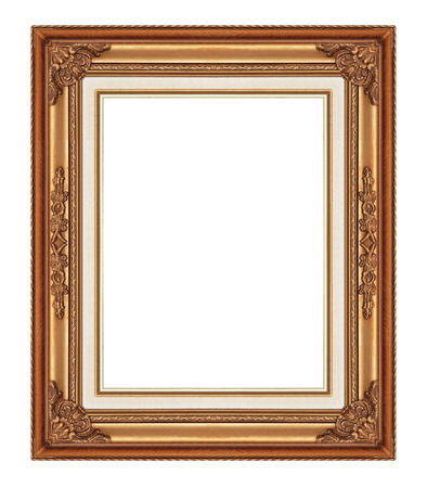 Picture frame isolated on white background. photo