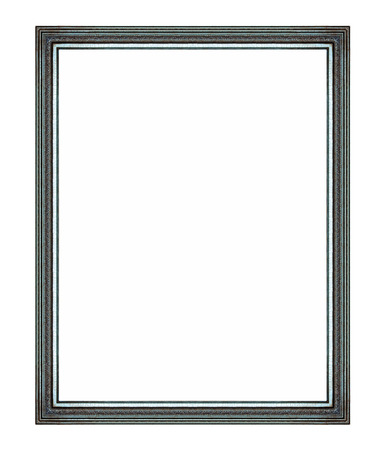 Wooden frame isolated on white background Reklamní fotografie