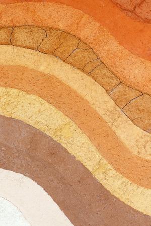 Layer of soil underground photo