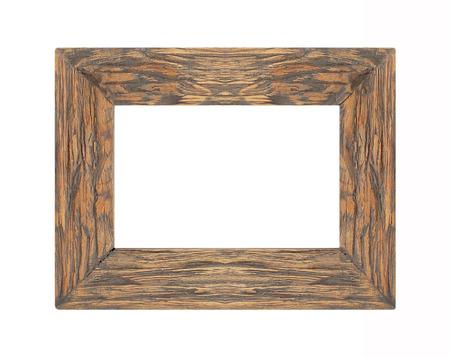 marco madera: Marco de madera Marco de imagen aislado en el fondo blanco