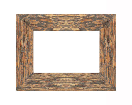 frame wood: Picture frame wood frame Isolated on white background Stock Photo