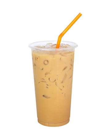 fredo: Iced Coffee isolated on white background Stock Photo