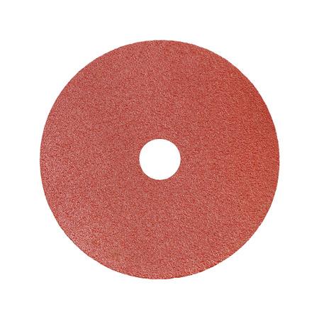 sandpaper: Red sandpaper isolated on white background Stock Photo