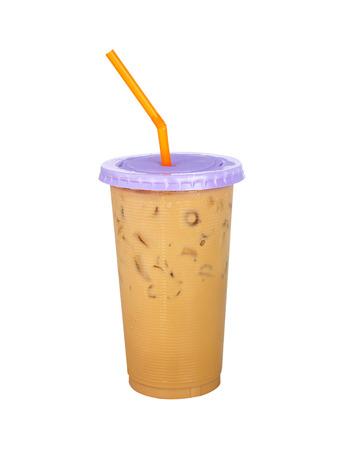 fredo: Caff� ghiacciato isolato su sfondo bianco