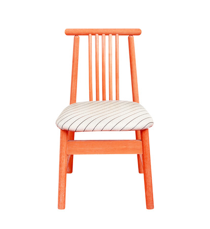 wooden chair isolated on white background. photo