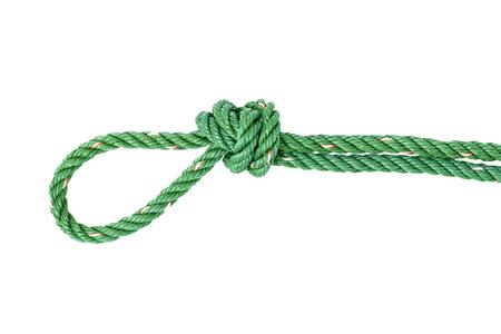 nylon: Green nylon rope tied the knot