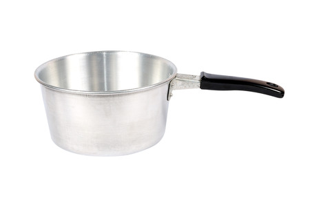 stainless steel pot: Stainless steel pot. Isolated on white background