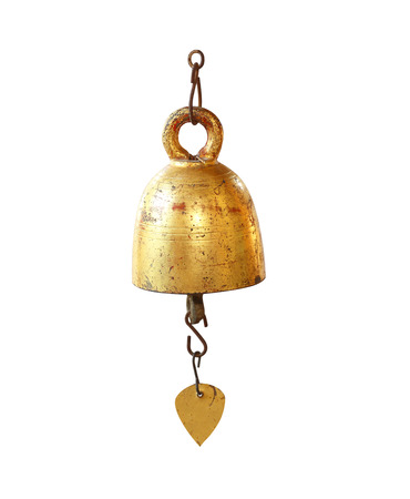 peal: Gold bell isolated on white background