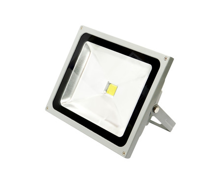 motion sensor: LED spotlight isolated on white background.