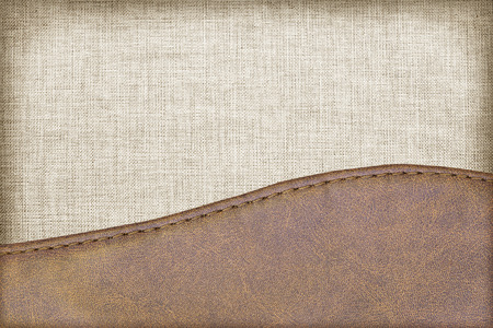 tailor seat: leather textured with fabric background