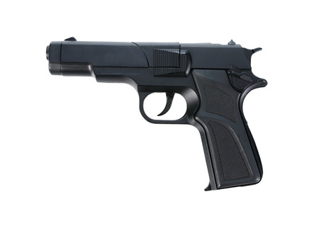 glock: Replica gun isolated on white