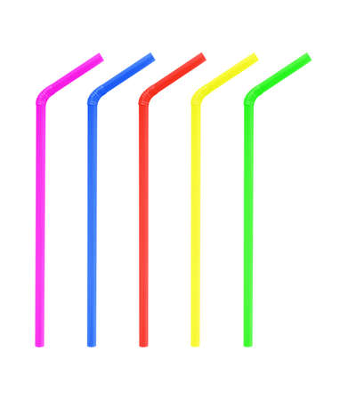 colorful straw drinking collection photo