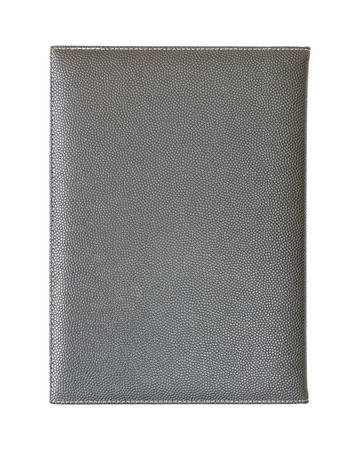 leather notebook cover isolated on white background photo