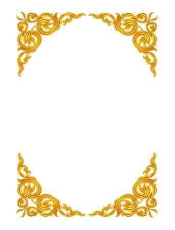 carve: Pattern of wood frame carve on white