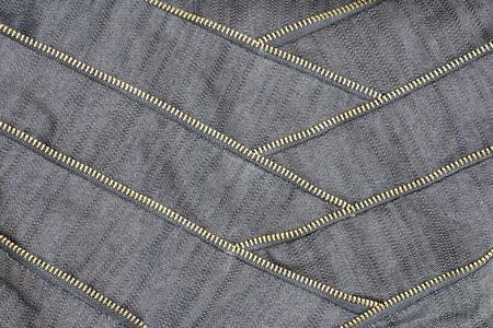 stitching: canvas fabric with zipper and stitching