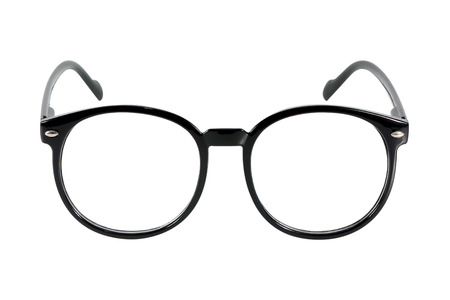 black glasses, isolated on white background 스톡 콘텐츠