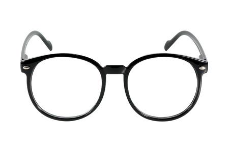 zwarte bril, op een witte achtergrond