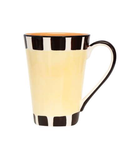 ceramic mug isolated on white background photo