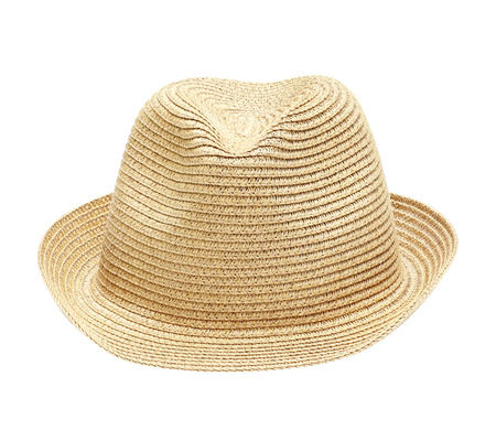 aging american: Straw Hat Isolated on White Background