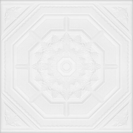 plaster board: Patterns on the ceiling gypsum sheets of white flowers