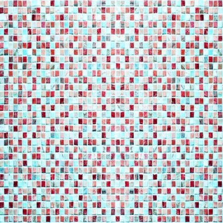 Vintage colorful tiles mosaic background photo