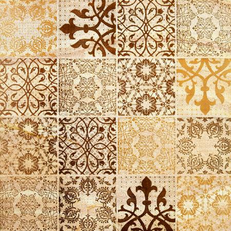 装飾的な茶色の砂の石タイル背景
