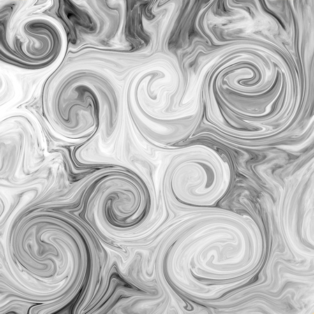 black onyx: Abstract marble texture. Black and white background. Handmade technique. Stock Photo