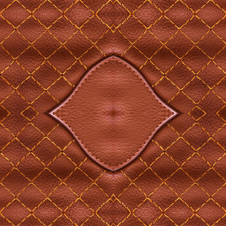 sewn: brown leather suede with sewn seams background