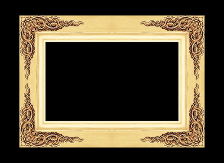 cadre antique: cadre antique isol� sur fond noir Banque d'images