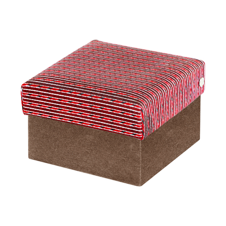 messaline: gift silk box isolated on white background