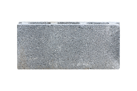 Concrete block isolated on white