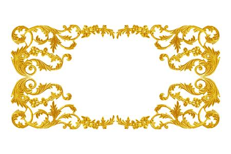 baroque: Elementos de adorno, diseños florales de oro de época