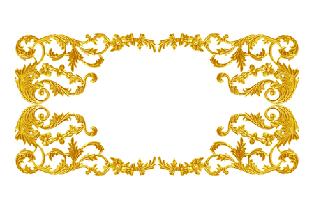 gold swirls: Ornament elements, vintage gold floral designs