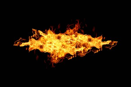 abstract fire: Abstract Fire flame on black background Stock Photo