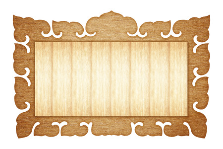 tableau: wood picture frame Isolated on white background