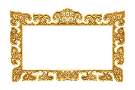 Antiguo marco decorativo - hecho a mano, grabado - aisladas sobre fondo blanco Foto de archivo - 45981899