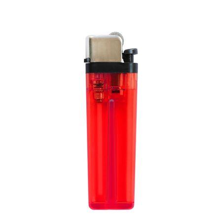 encendedores: encendedores rojas aisladas sobre fondo blanco