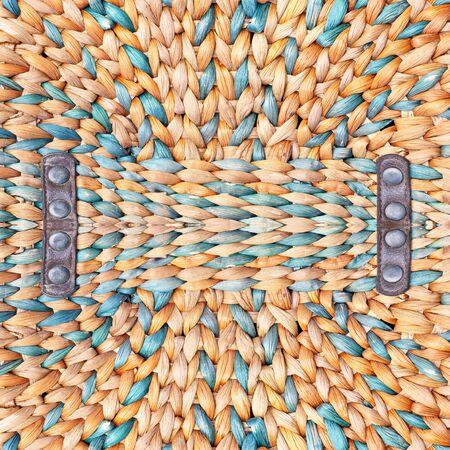 latticework: Woven straw background or texture. Stock Photo