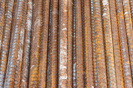converge: Steel bars close- up background. Reinforcing bar background. Stock Photo